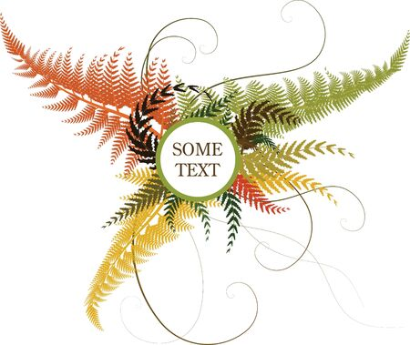 Autumn floral background with place for your text photo