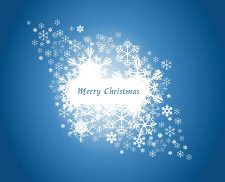 Christmas background with white snowflakes and place for your text photo