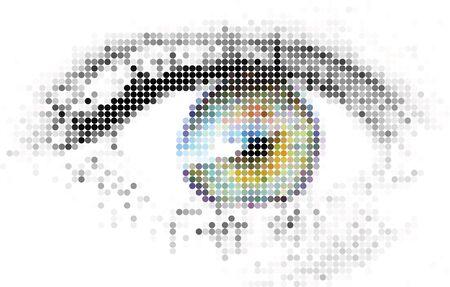 Abstract human - digital - eye made from circles Stock Photo - 2051096