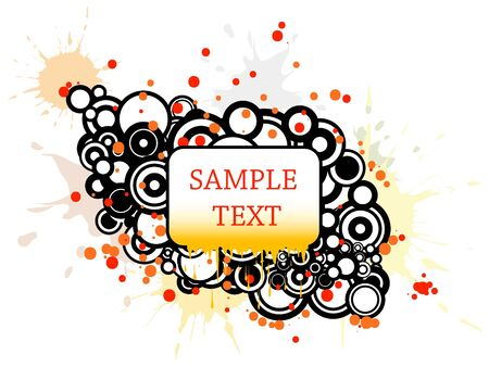 Background with circles, spots and place for your text photo