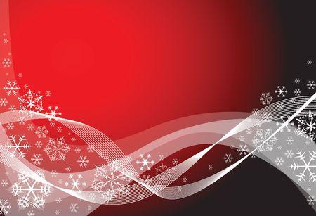snoflake: Red christmas background with white snowflakes Stock Photo