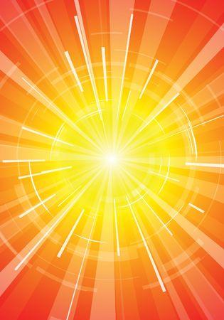 detonation: The hot summer sun - abstract background