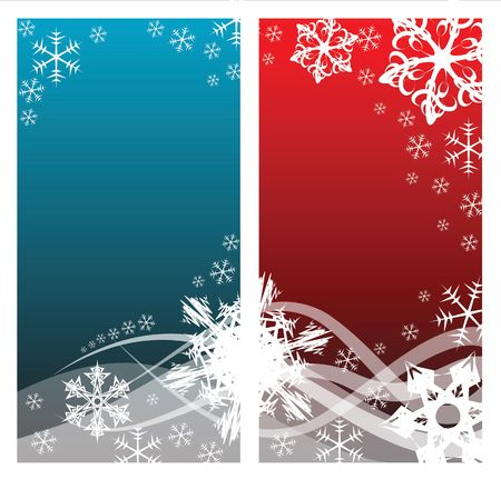 Christmas background with white snowflakes and place for your text (two colors) photo