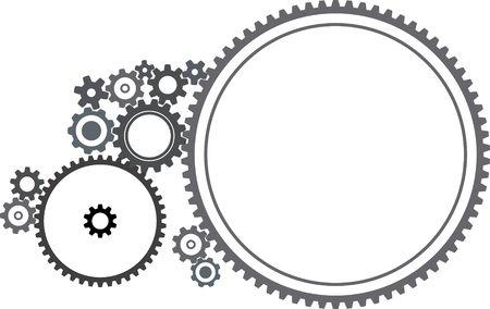 Various cogwheels - illustration on white background illustration
