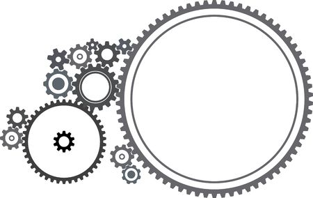 gearings: Various cogwheels - illustration on white background Stock Photo