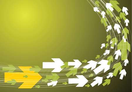 Green technical background with arrows photo