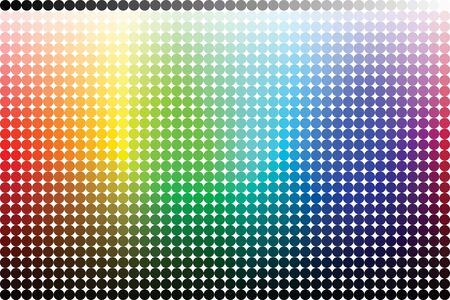 Color pallete (spectrum) made from circles photo