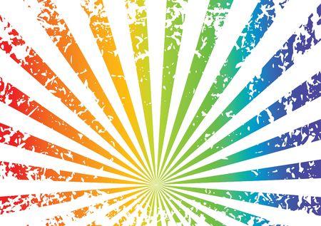 whirling: Grunge sunrise background - rainbow Stock Photo