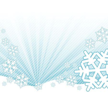 Snow falling on the landscape - abstract illustration Stock Illustration - 2136473