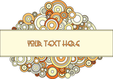 Retro vector background with circles and place for your text photo