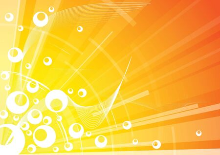 detonation: Abstract hot background with circles