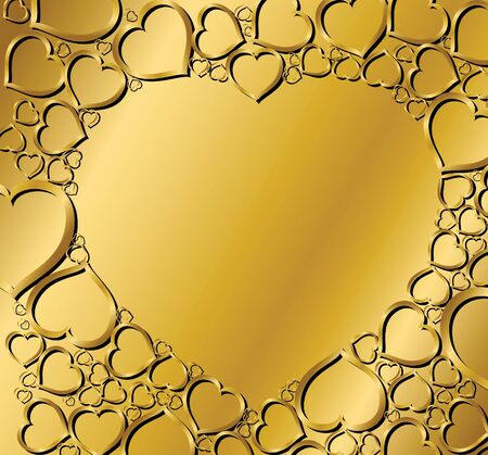Valentines background with hearts photo
