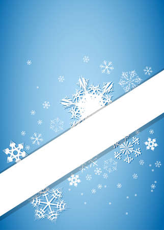 Christmas background with snowflakes and place for your text photo