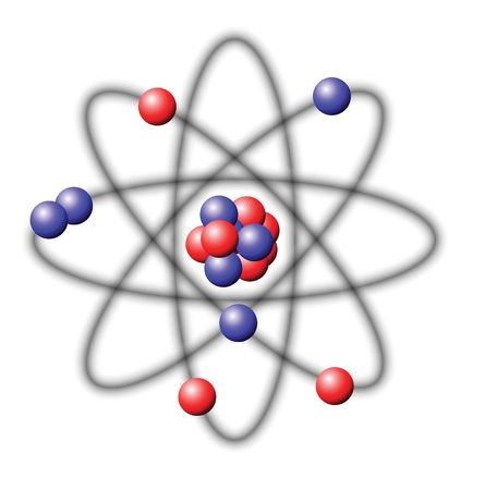 photon: Atom - illustration on a white background Stock Photo