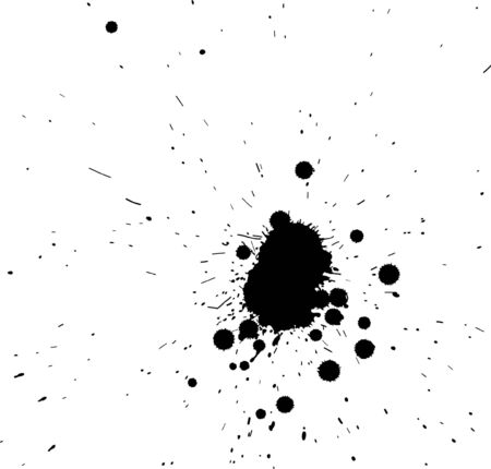 spatter: Black grunge spatter on a white background