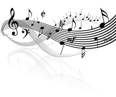 Black and white Music theme Stock Photo - 2766614