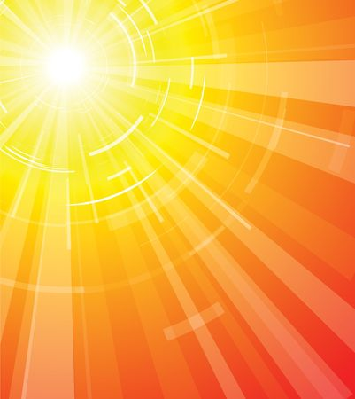The hot summer sun - very hot background
