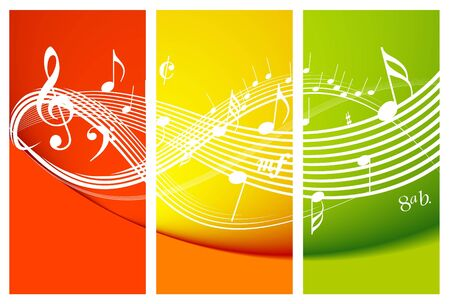 conservatory: Fresh music theme with notes Stock Photo