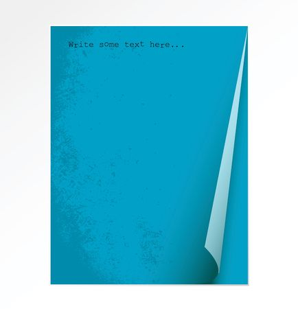 Peace of blue paper on a white background Stock Photo - 2766524