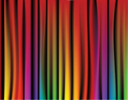 entertainment funny: Fresh rainbow curtain - abstract background