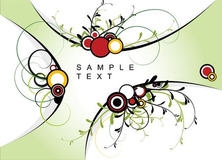 Abstract floral background with place for your text photo
