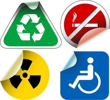 Various  labels badges and stickers Stock Photo - 3076037