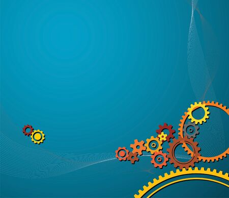 gearings: background made from various colorful cogwheels