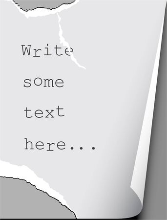 Tear paper with place for your text - abstract background photo