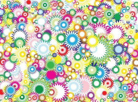 Lot of vivid circles - background  pattern  texture photo