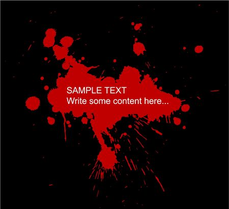 blood drops: Grunge background with splats and place for your text Stock Photo