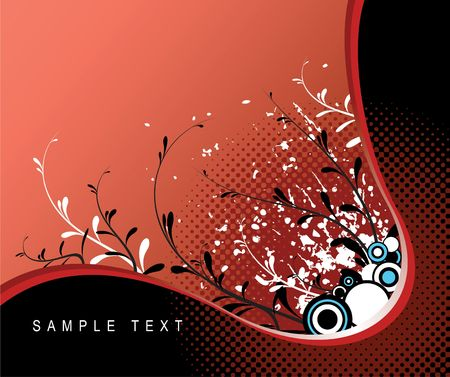 Abstract grunge floral background with place for your text photo