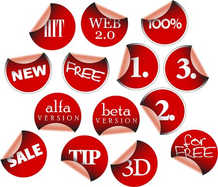 Labels badges and stickers with various texts Stock Photo - 3281467