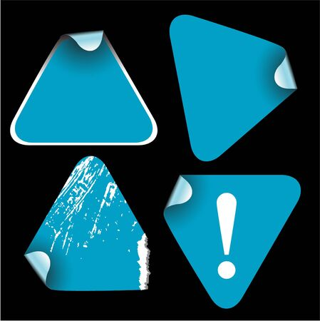 trigonal: Blue triangle labels badges and stickers Stock Photo