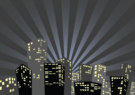 accomodation: Silhouette of the city in the night - nice poster background