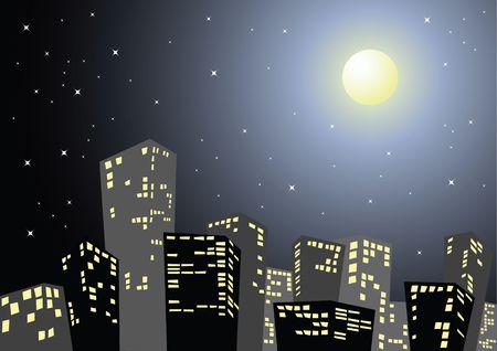 밤에는 도시의 실루엣