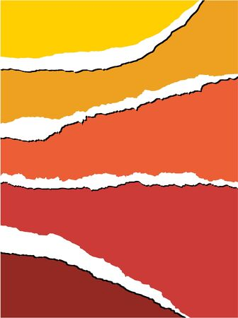 Tear paper - abstract background with warm colors Stock Photo