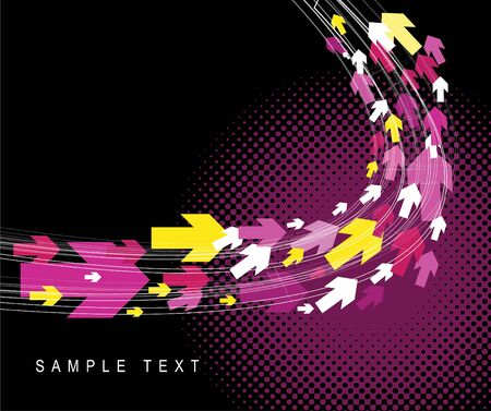 Technical background with pink and yellow arrows photo