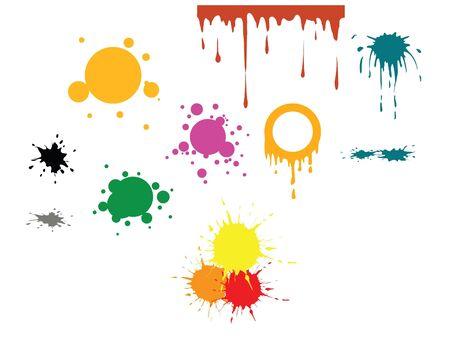 fleck: Vector manchas - manchas diferentes y diversos colores