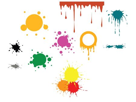 Vector spots - various spots and various colors Stock Photo - 3281317