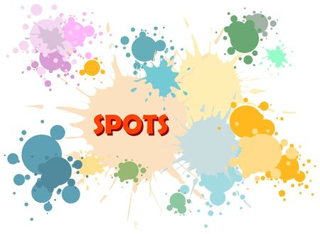 Vector color spots background on white photo