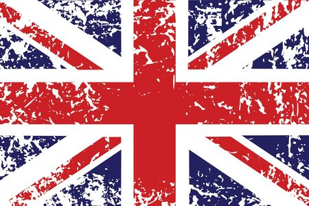 jack: Grunge flag of United Kingdom - useful background Stock Photo
