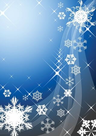 Christmas background with snowflakes photo