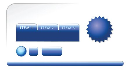 Modern blue web elements for your webpage photo