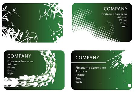 Set of red business card templates photo