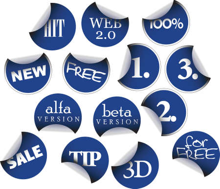 Labels badges and stickers with various texts Stock Photo - 3533404