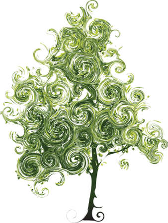 Funny tree made from curls photo