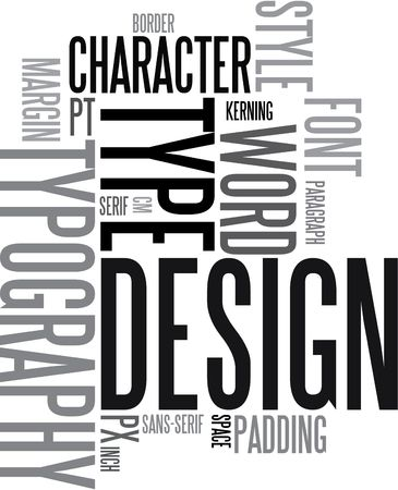 Design and typography background - black and white words Stock Photo - 3581759