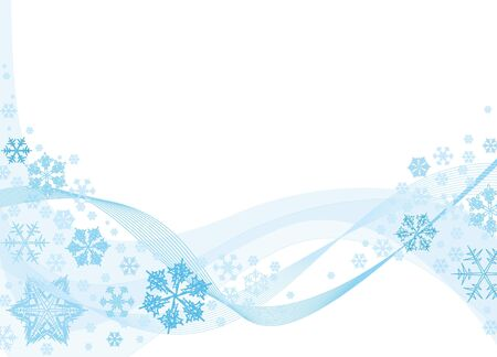 Christmas background with blue snowflakes and place for your text photo