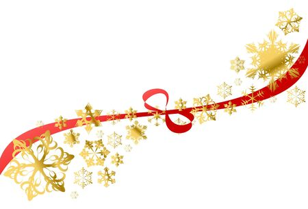 Christmas background with snowflakes on white photo