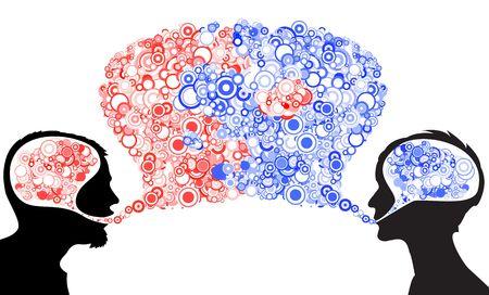 between: Dialog between man and woman